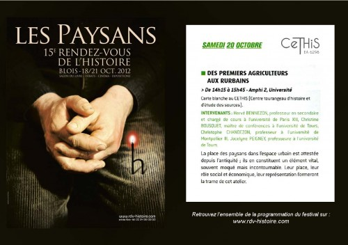 RDV Blois 2012 CeTHiS